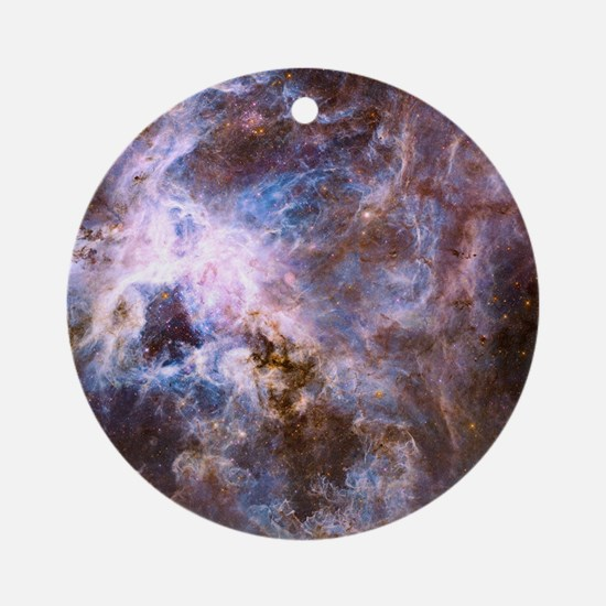 Colorful Cosmos Round Ornament