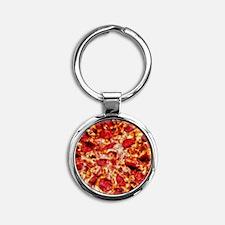 Pizza Painting Round Keychain