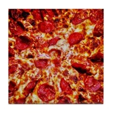 Pizza Painting Tile Coaster