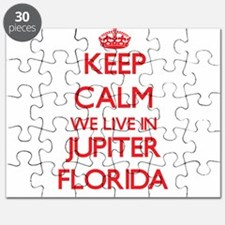 Keep calm we live in Jupiter Florida Puzzle