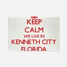 Keep calm we live in Kenneth City Florida Magnets