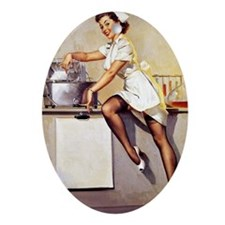 pin up Oval Ornament