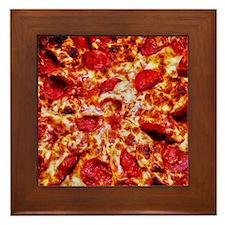 Pizza Painting Framed Tile