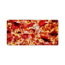 Pizza Painting Aluminum License Plate