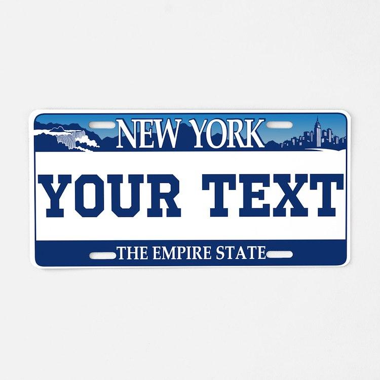 New York 2001 Empire State Aluminum License Plate