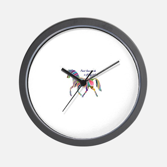 paint horse lovers.JPG Wall Clock