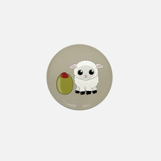 Olive Ewe Mini Button