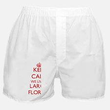 Keep calm we live in Largo Florida Boxer Shorts