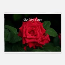 Be My Love Romantic Red Rose for Va 5'x7'Area Rug