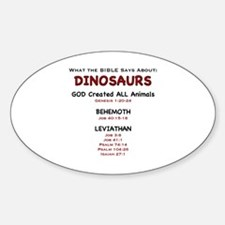 Dinosaurs - Oval Decal