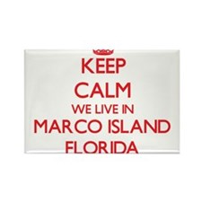 Keep calm we live in Marco Island Florida Magnets