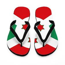Burundi flag Flip Flops