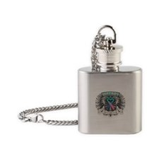 Thyroid Cancer Victory Flask Necklace