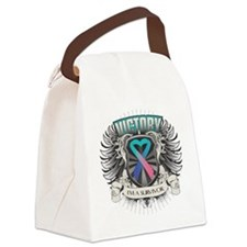 Thyroid Cancer Victory Canvas Lunch Bag