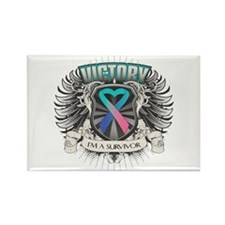 Thyroid Cancer Victory Rectangle Magnet