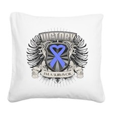 Stomach Cancer Victory Square Canvas Pillow
