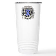 Stomach Cancer Victory Travel Coffee Mug