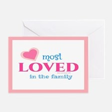 Most Loved Family Card Greeting Cards
