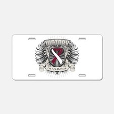Throat Cancer Victory Aluminum License Plate