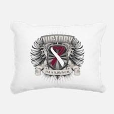 Throat Cancer Victory Rectangular Canvas Pillow
