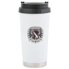Throat Cancer Victory Travel Mug