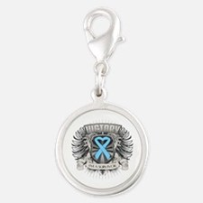 Prostate Cancer Victory Silver Round Charm