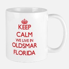 Keep calm we live in Oldsmar Florida Mugs