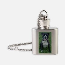 Pit Bull Flask Necklace