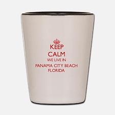 Keep calm we live in Panama City Beach Shot Glass