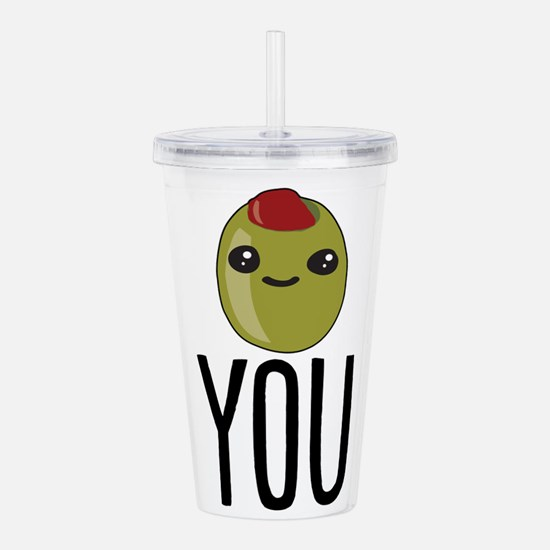 Olive You Acrylic Double-wall Tumbler