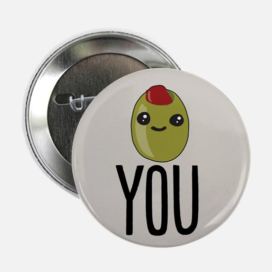 "Olive You 2.25"" Button"
