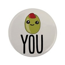 """Olive You 3.5"""" Button (100 pack)"""