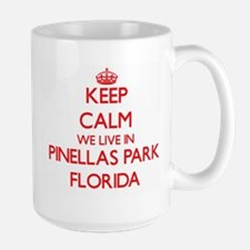 Keep calm we live in Pinellas Park Florida Mugs