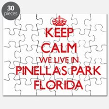 Keep calm we live in Pinellas Park Florida Puzzle