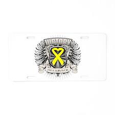 Osteosarcoma Victory Aluminum License Plate
