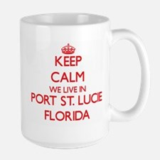 Keep calm we live in Port St. Lucie Florida Mugs