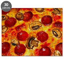 Pepperoni and Mushroom Pizza Puzzle