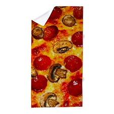Pepperoni and Mushroom Pizza Beach Towel
