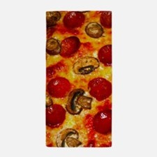 Pepperoni and Mushroom Pizza Beach Towel