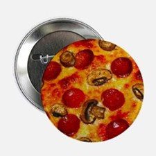 """Pepperoni and Mushroom Pizza 2.25"""" Button"""