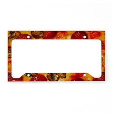 Pepperoni and Mushroom Pizza License Plate Holder