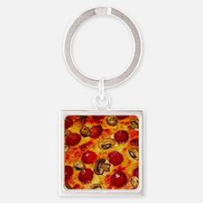 Pepperoni and Mushroom Pizza Keychains