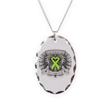 Non-Hodgkins Lymphoma Victory Necklace Oval Charm