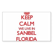 Keep calm we live in Sanibel Florida Decal