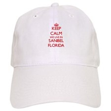 Keep calm we live in Sanibel Florida Baseball Cap