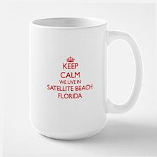 Keep calm we live in Satellite Beach Florida Mugs