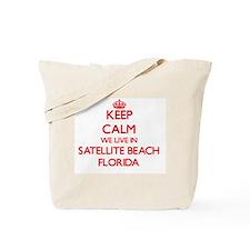 Keep calm we live in Satellite Beach Flor Tote Bag