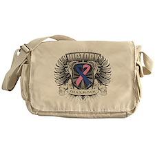 Male Breast Cancer Victory Messenger Bag