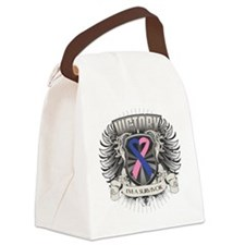 Male Breast Cancer Victory Canvas Lunch Bag