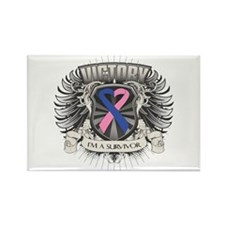 Male Breast Cancer Victory Rectangle Magnet